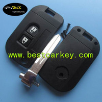 Low price 2 buttons flip key cover for nissan key cover nissan Qashqai modified remote key case flip key nissan