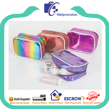 Wellpromotion fashion shiny pu cosmetic makeup case