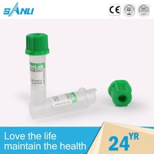 Automatic custom green cap blood test tube heparin