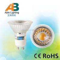 230V glass Warm White COB 5W led light gu10