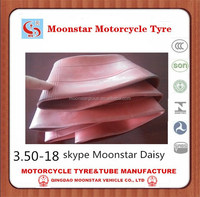 inner tube 3.50-18 butyl tube Qingdao motorcycle tube factory