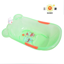 China PP plastic cheap baby bath tub wooden acrylic baby bathtub