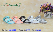 2015 Coolking PVC sandals NEW designs latest ladies sandal Classic Shoe Manufacturer shoe new design Flattie summer sandals 2015