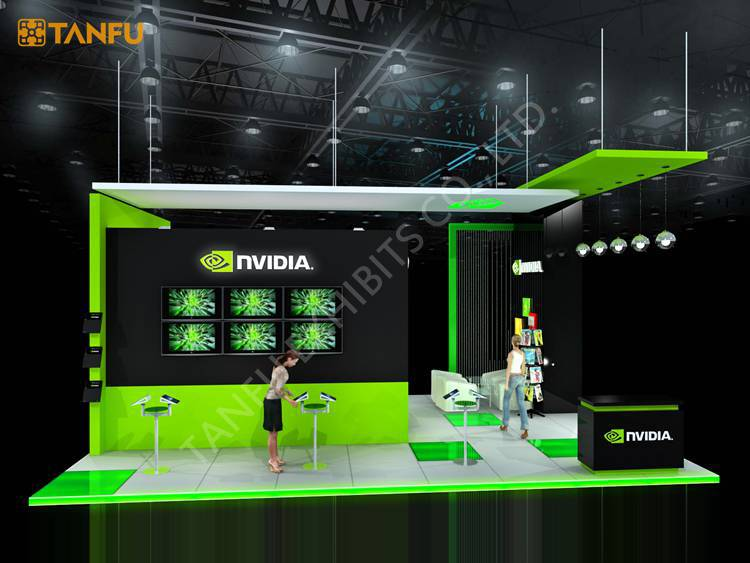 D Exhibition Stand Design Free Download : Ftx ft trade show stand exposition avec affichage led