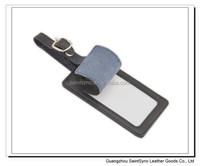 004 Wholesale leather travel bulk luggage tag