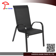 Hot sale teak table and chair with stainless steel frame molded outdoor plastic furniture
