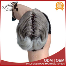 glueless mens hair piece, good quality claw in hair extensions, blonde synthetic kanekalon weave