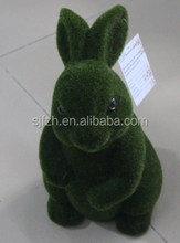 Amazing! New style flocking big green sit rabbit for sale