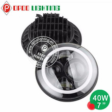 7 inch round led headlight 12v 24v j.eep headlight C.ree chip with hi low beam
