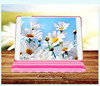 360-degree Swivel wave point Folio PU Leather Smart Stand Case Cover Skin for iPad Air(Rose pink)