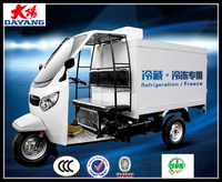 Best refrigerator eec trike 3 wheel tricycle freestyle tricycle enclosed cabin tricycle with cargo box