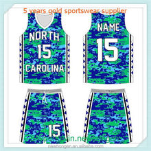 Good quality new style sublimated toddlers basketball jerseys