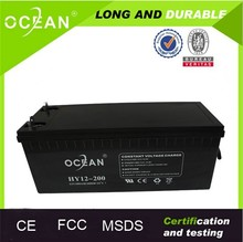 CE FCC MSDS certified deep cycle battery 12v 200ah batteries 200 amp