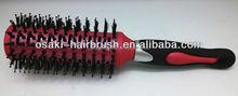 round bristle plastic handle hair brush, natural boar hair brush
