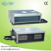 Concealed fan coil unit within air return box, chilled water fan coil units