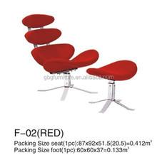 Moderno diseño clásico Corona silla con otomana