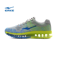 ERKE 2015 hot sales mens fly knit max running shoes full length air cushion sneaker for man couple style inventory avaliable