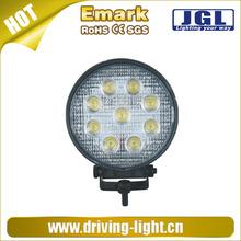 High power led lamp 12v,led driving flood light,27w led spot work light 4x4 off road