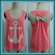 Womens 2015 summer fashion blouse womans anchor tank top LC623