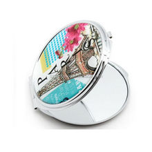 Customized professional heart shape mirror compacts