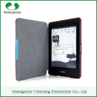 Slim Leather Flip Cover for Kindle Paperwhite, Super Fiber Material magnet case for Amazon Kindle with sleep function