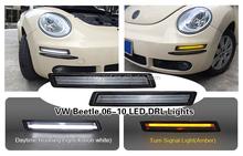 New beetle led drl led turn signal light vw beetle 2006-2010 car drl lights