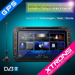 """8"""" Ultra-clear Touch Screen GPS/Dynamic User Interface/Built-in DVB-T Car DVD Plyer For Volkswagen"""