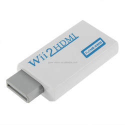Full HD 3D 1080P Wii to HDMI Converter Adapter support 3.5mm audio output