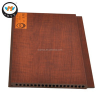 Dark Brown Wood Plastic Composite WPC Wall Decoration Board
