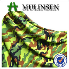Mulinsen Textile Knit Single Jersey FDY Poly Spandex 4 Way Stretch Lycra Fabric Camouflage Free Samples