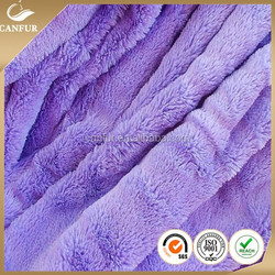 100% polyester knitted discharged faux fur