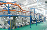 Manual spraying small and big parts convey system