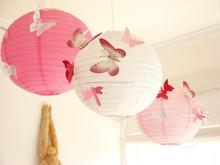 Decorative Chinese lanterns Butterfly lanterns Wedding Decor Ideas YiWu Butterflies Lanterns, Paper, Art, Hanging, 3D, Pink,