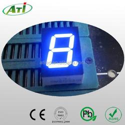 0.32 inch blue color led 7 segment led display, 1 digit