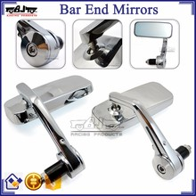 BJ-RM400-06 Universal Motorcycle Parts Chrome CNC Billet Aluminum Bar End Scooter Motorcycle Mirrors for Ninja 650r