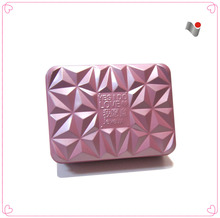 Kingly purple color metal tin box with special design lids