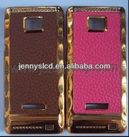 Luxury Mobile Phone leather wallet case for samsung S2