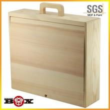 Manija caliente ventas durable pure manual de vino caja de madera