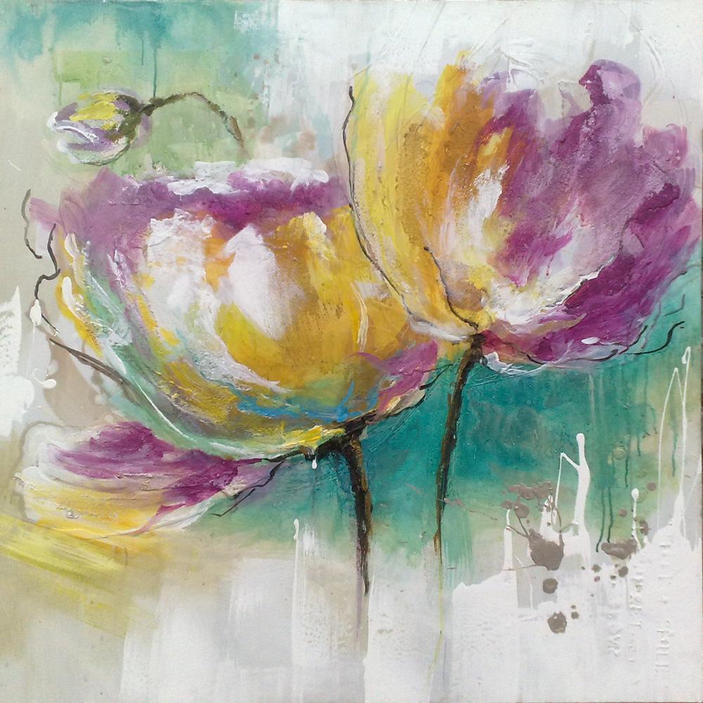 grand peintures de fleurs moderne toile art fleur peinture objets d coratifs pour le salon. Black Bedroom Furniture Sets. Home Design Ideas