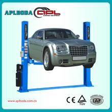 in floor car lift, hydraulic 2 post car lift,hydraulic two cylinders car lift