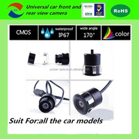 Carsun 180 degree mini hidden waterproof high definition car rear view camera with bracket night vision for all the cars