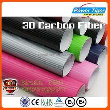 3D black auto carbon fiber