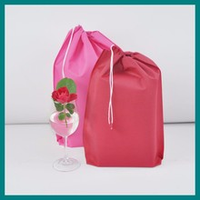 Biodegradable Non Woven Drawstring Shoe Bag laundry bag with handle
