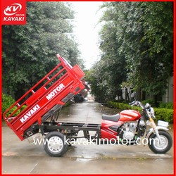 OEM Hydraulic Tipper 250cc Automatic Motorcycle With Gasoline Kavaki Engine System