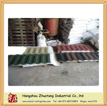 12 colors can be optioned Classic Stone Coated Aluminum Metal Roof Tile