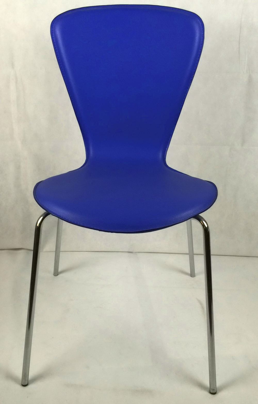 Pvc Chair Product : Hard pvc covered dining chair room chairs chromed