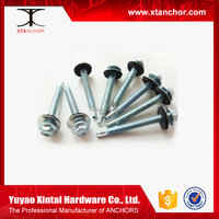 china manufacture stainless steel hex head roof screw/self drilling screw with rubber washer/ikea screw
