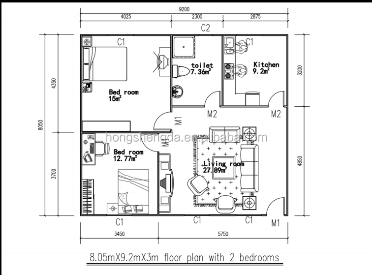 Cheap 2 bedroom houses ideas building plans online 73738 for Cheap house floor plans