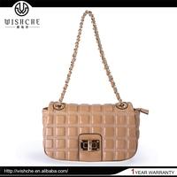 Wishche 2015 Newest Pictures Chain Lady Fashion Handbag Bag Ladies Handbag Metal Parts Handbag Handle Covers Made in China W2051