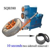 New generation scrap tire cutting machine for bale